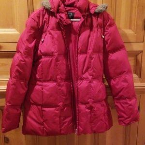 Utex Design red down jacket